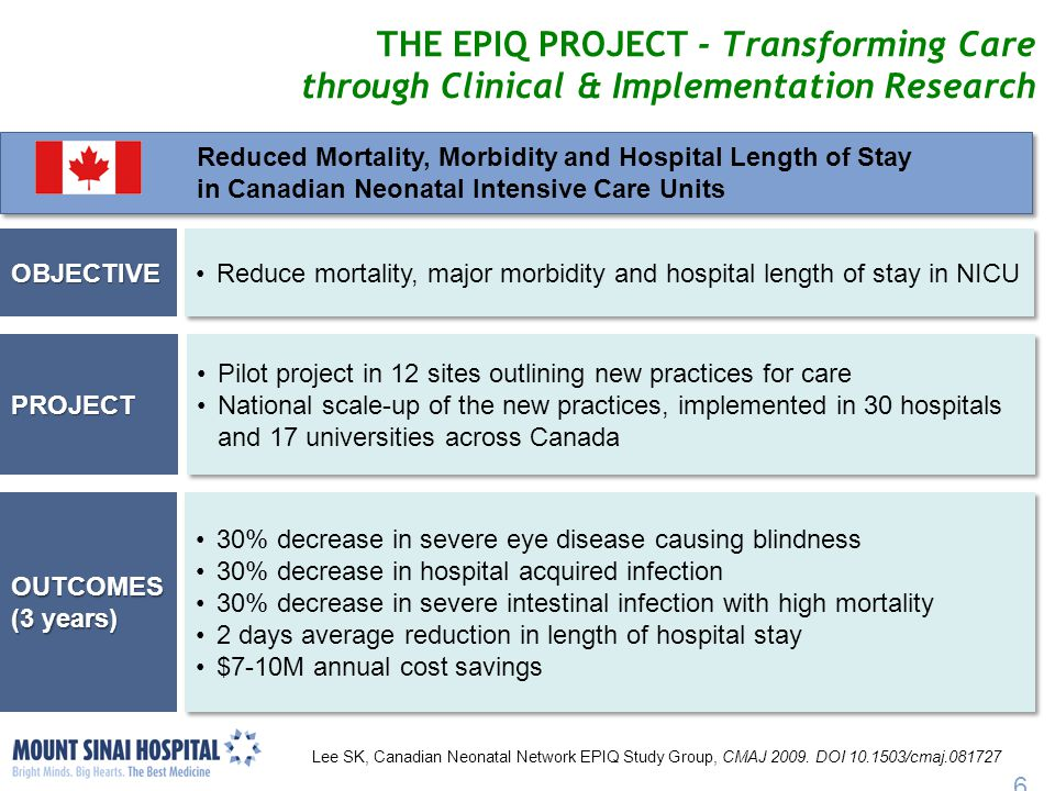 THE EPIQ PROJECT - Transforming Care through Clinical & Implementation Research
