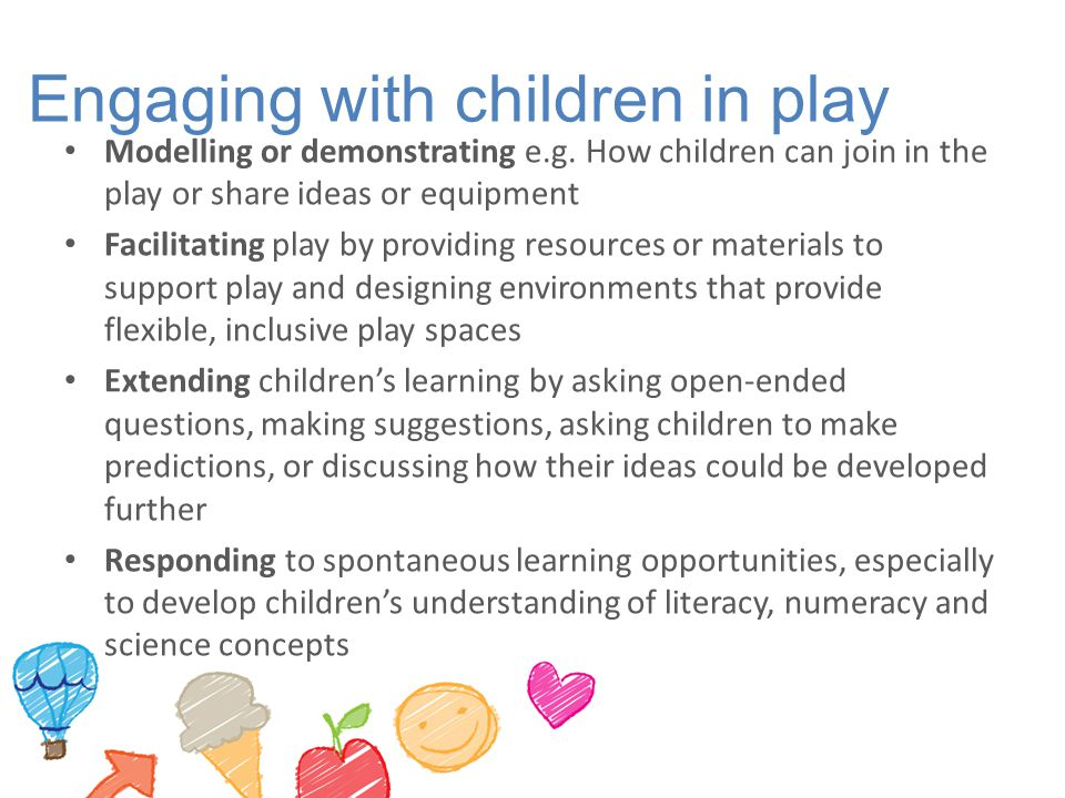 Engaging with children in play
