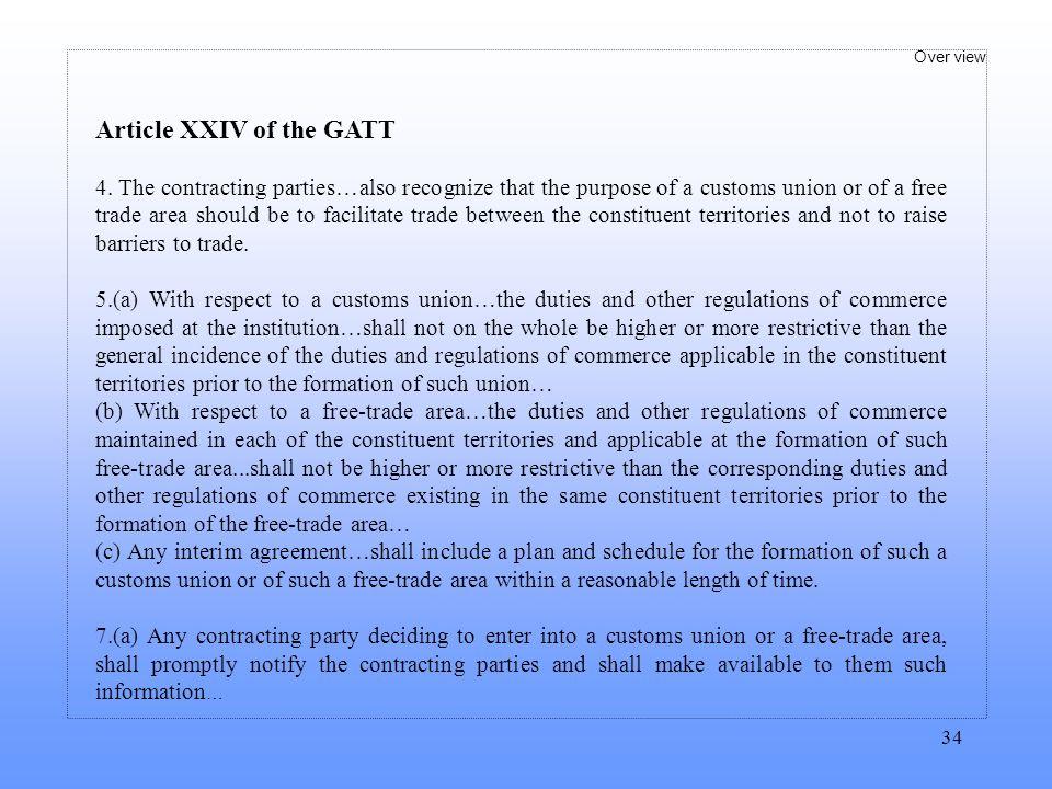 Article XXIV of the GATT