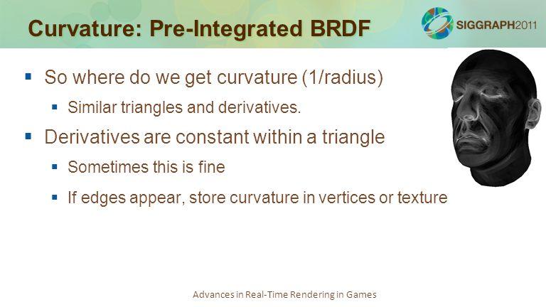 Curvature: Pre-Integrated BRDF