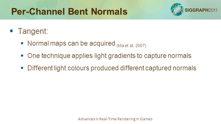 Per-Channel Bent Normals