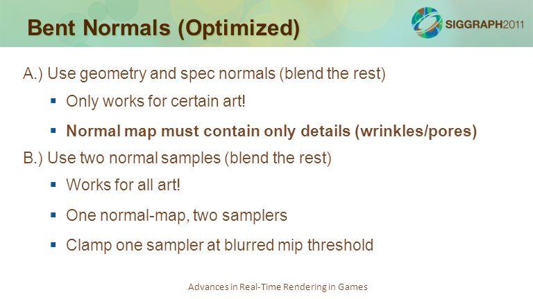 Bent Normals (Optimized)