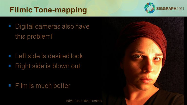 Filmic Tone-mapping Digital cameras also have this problem!