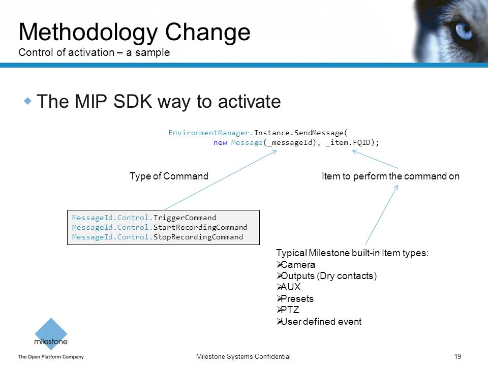 Methodology Change Control of activation – a sample