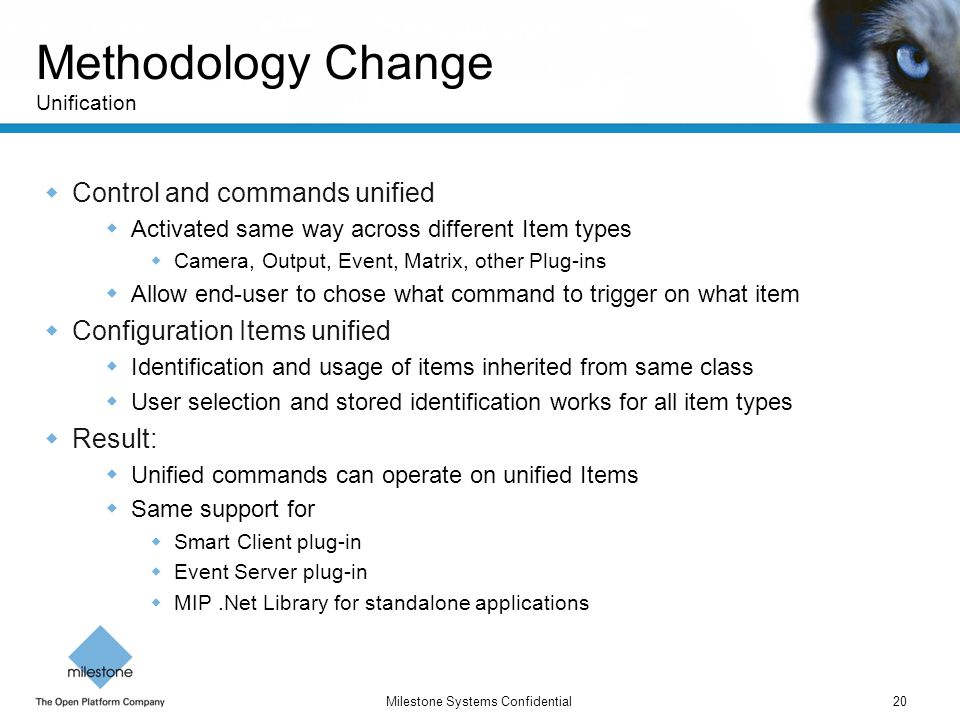 Methodology Change Unification