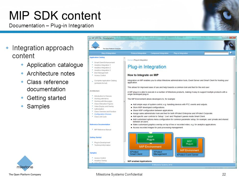 MIP SDK content Documentation – Plug-in Integration