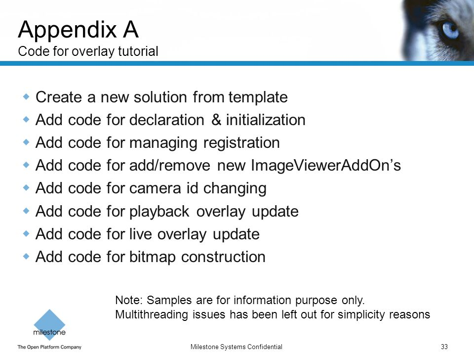 Appendix A Code for overlay tutorial