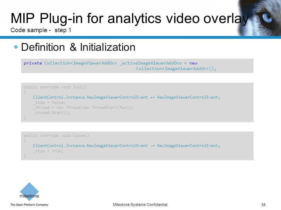 MIP Plug-in for analytics video overlay Code sample - step 1