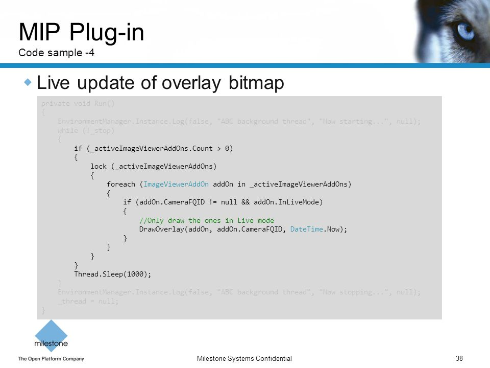 MIP Plug-in Code sample -4