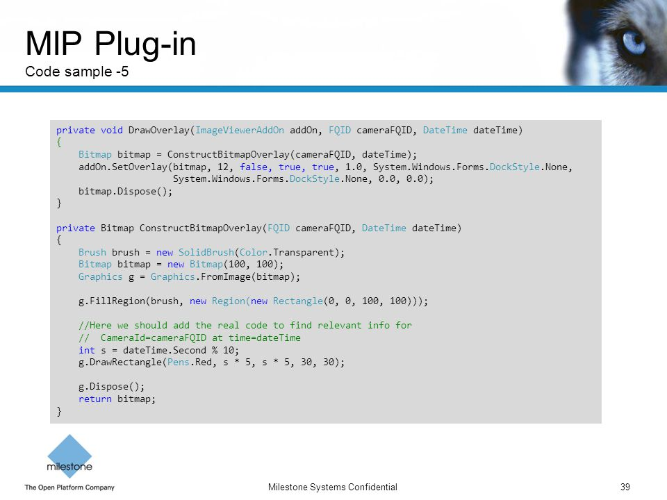 MIP Plug-in Code sample -5