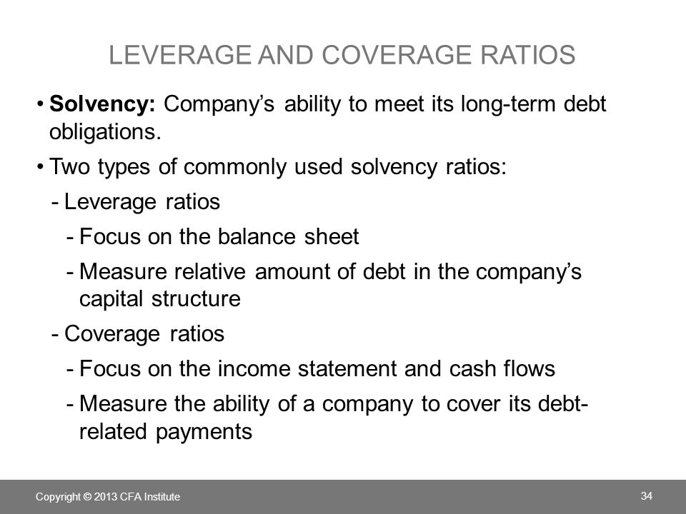 leverage and coverage ratios