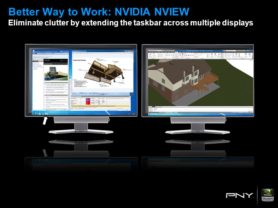 Better Way to Work: NVIDIA NVIEW Eliminate clutter by extending the taskbar across multiple displays