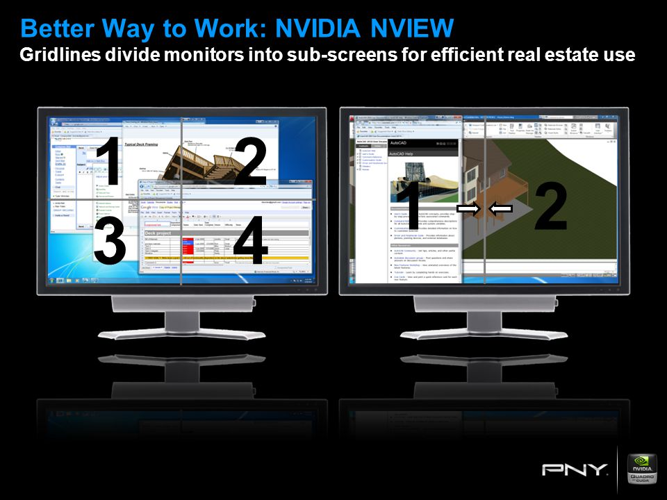Better Way to Work: NVIDIA NVIEW Gridlines divide monitors into sub-screens for efficient real estate use