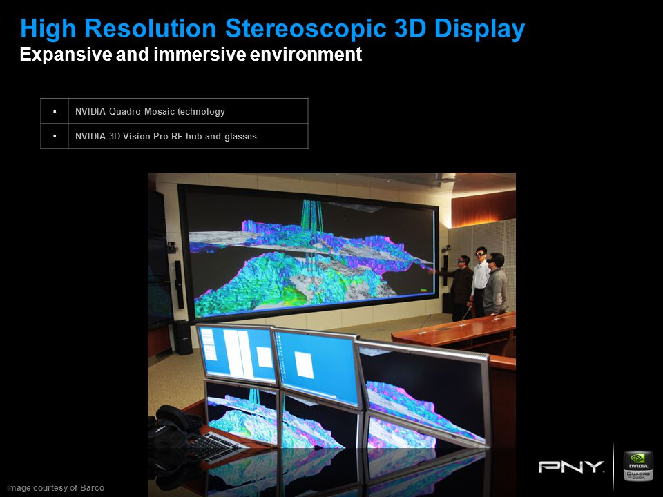 High Resolution Stereoscopic 3D Display Expansive and immersive environment