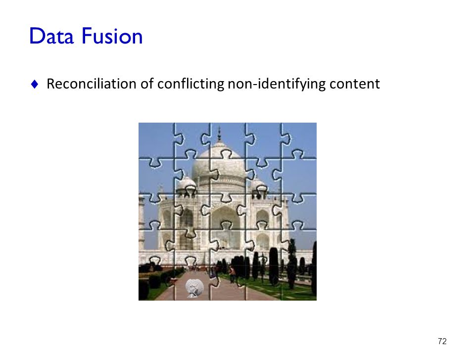 Data Fusion Reconciliation of conflicting non-identifying content