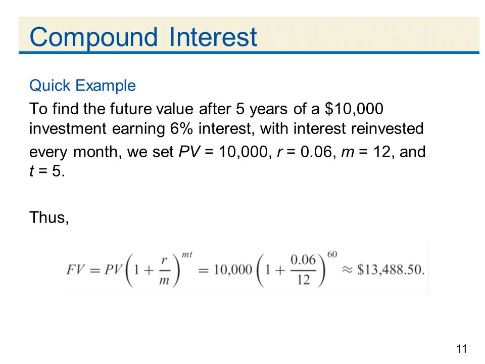 Compound Interest Quick Example
