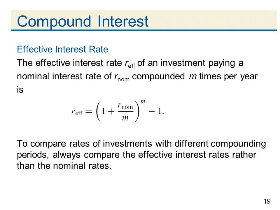 Compound Interest Effective Interest Rate