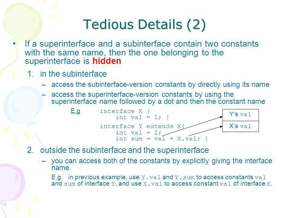 Tedious Details (2)