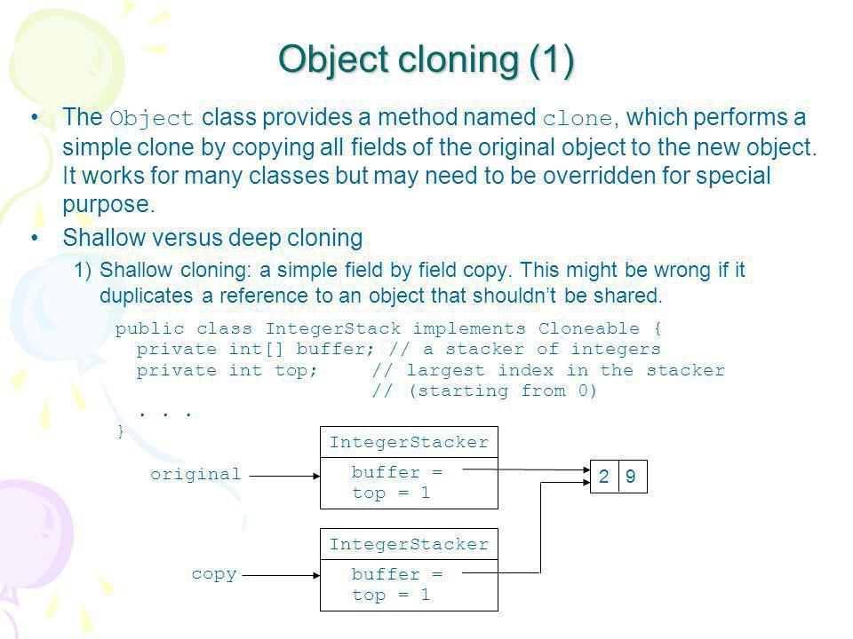 Object cloning (1)