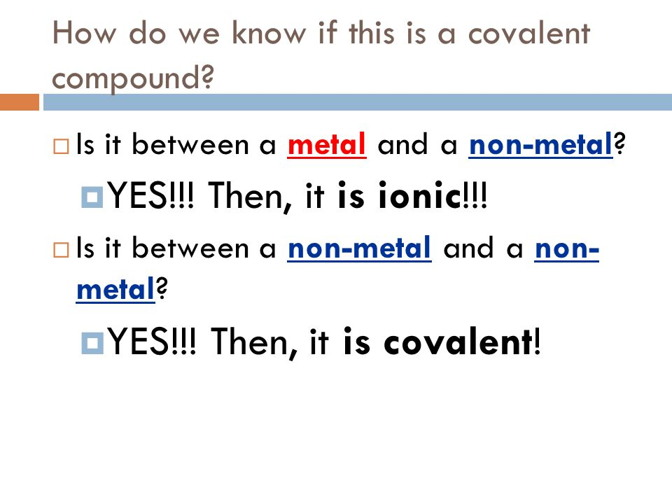 How do we know if this is a covalent compound