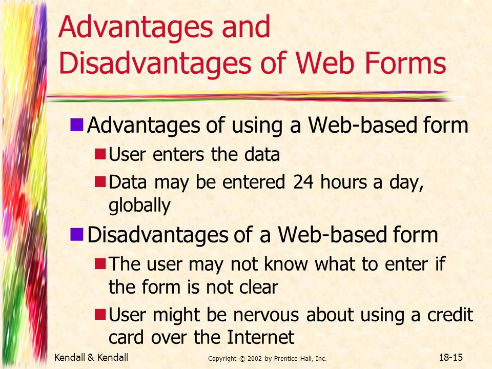 Advantages and Disadvantages of Web Forms