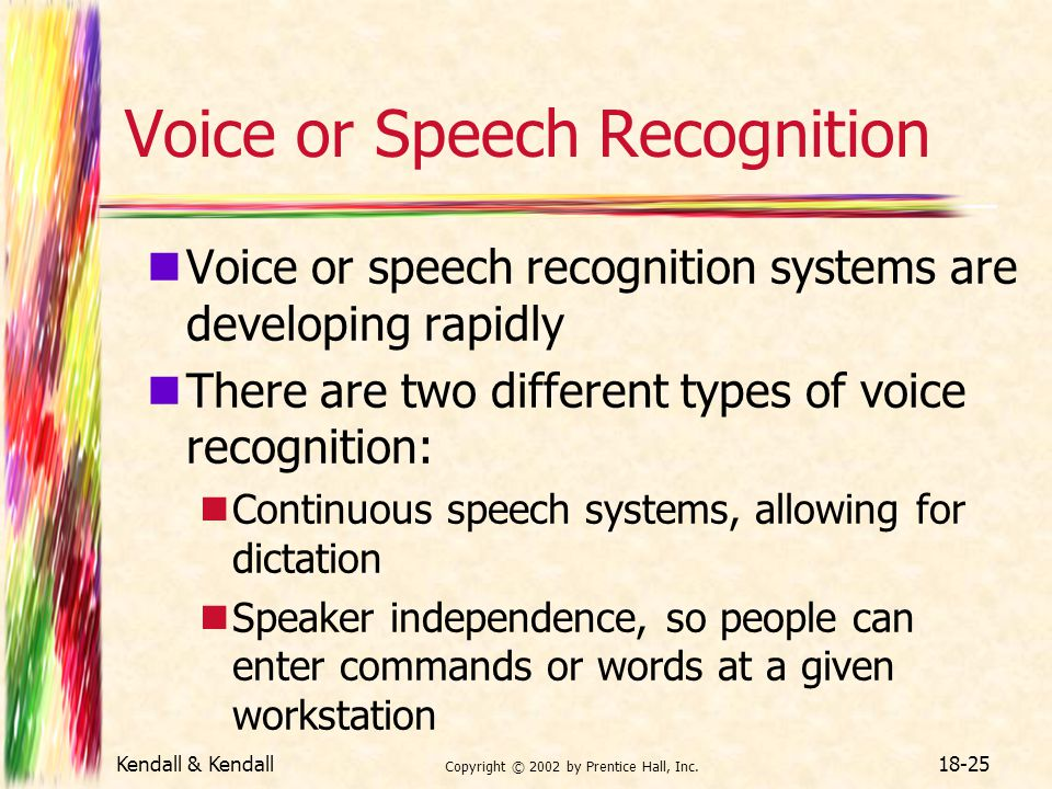 Voice or Speech Recognition