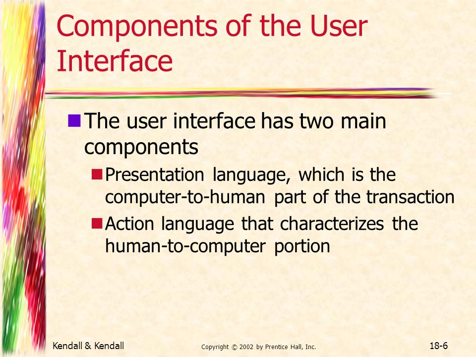 Components of the User Interface