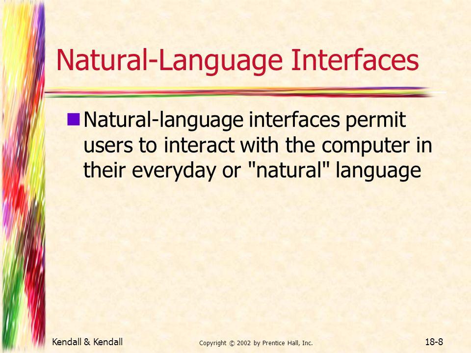 Natural-Language Interfaces