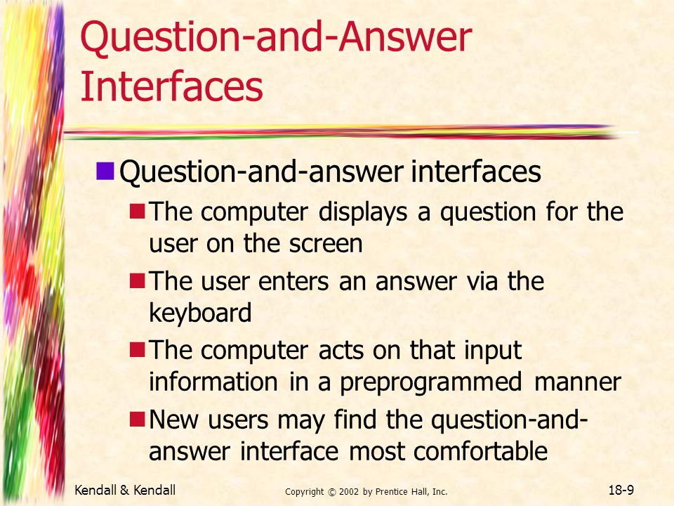 Question-and-Answer Interfaces
