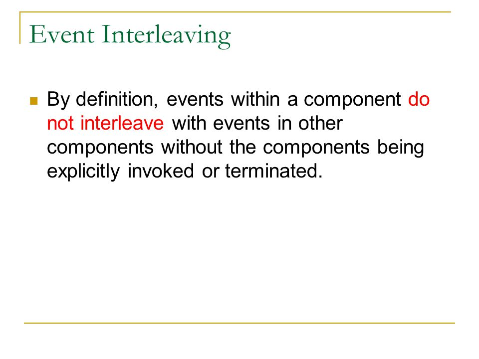 Event Interleaving