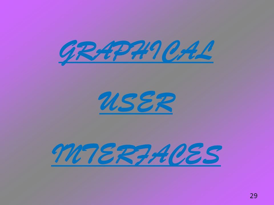 GRAPHICAL USER INTERFACES