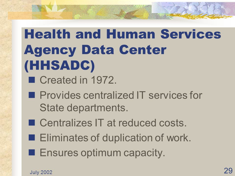 Health and Human Services Agency Data Center (HHSADC)