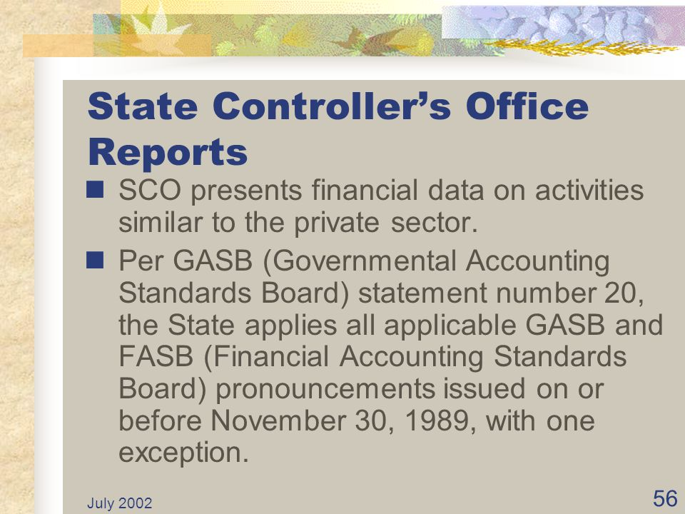 State Controller's Office Reports