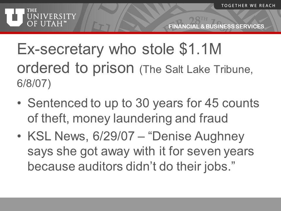 Ex-secretary who stole $1