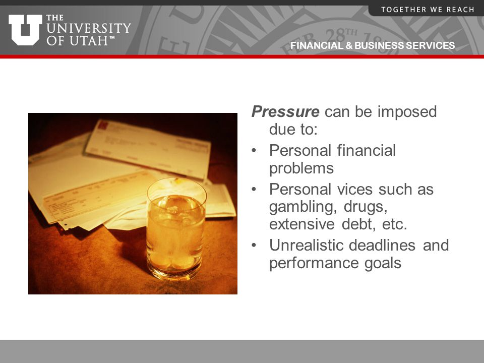 Pressure can be imposed due to: