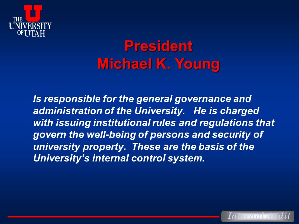 President Michael K. Young