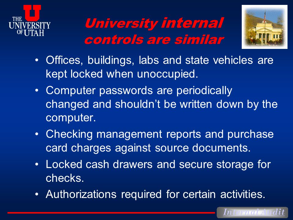University internal controls are similar
