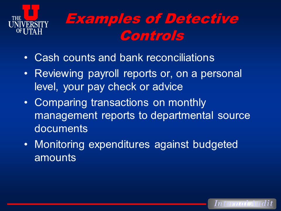 Examples of Detective Controls