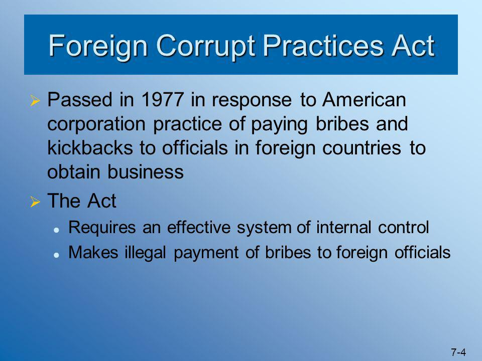 foreign corrupt practices act Foreign corrupt practices act cases were a centerpiece of the term of the former assistant attorney general, lanny a breuer, who until friday had led the.