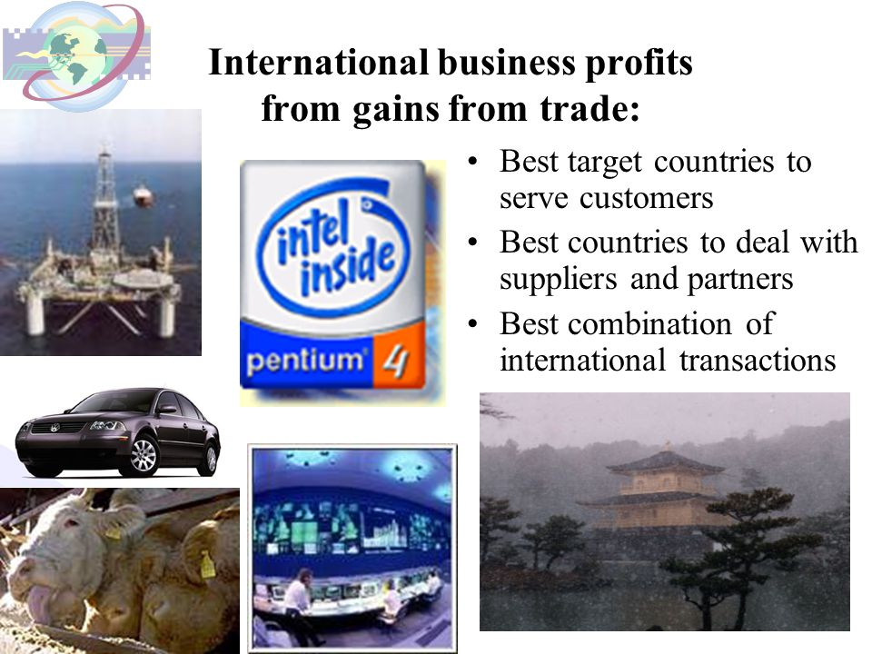 International business profits from gains from trade: