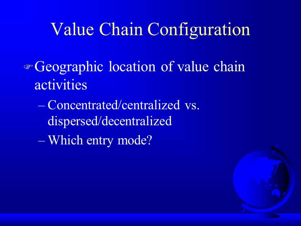 Value Chain Configuration