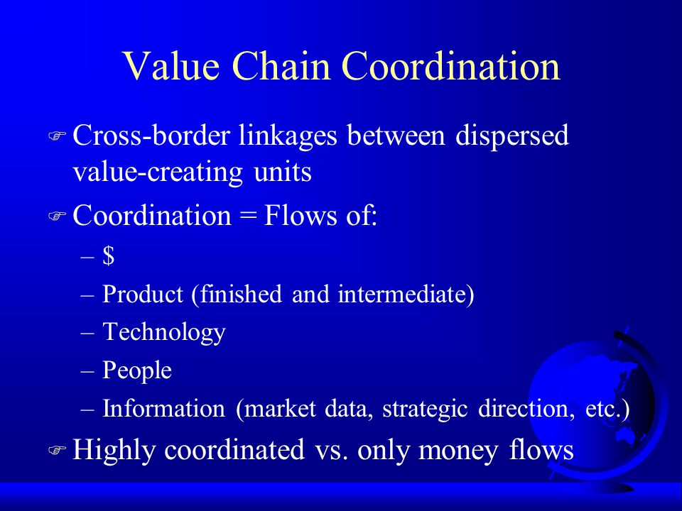 Value Chain Coordination