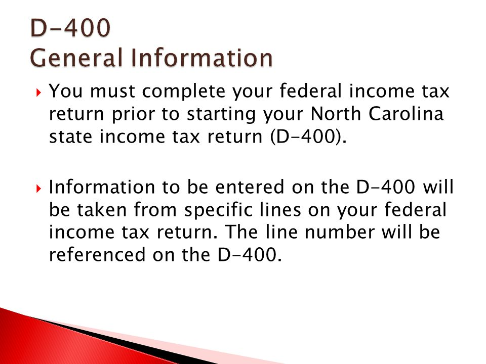 Nc Tax Form D 400 Heartpulsar