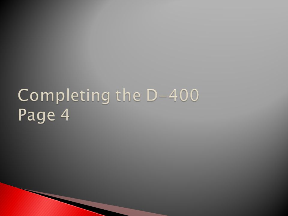 Completing the D-400 Page 4