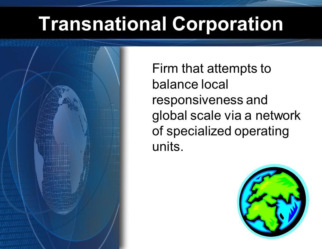 Transnational Corporation