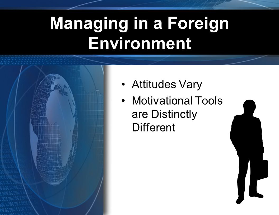 Managing in a Foreign Environment