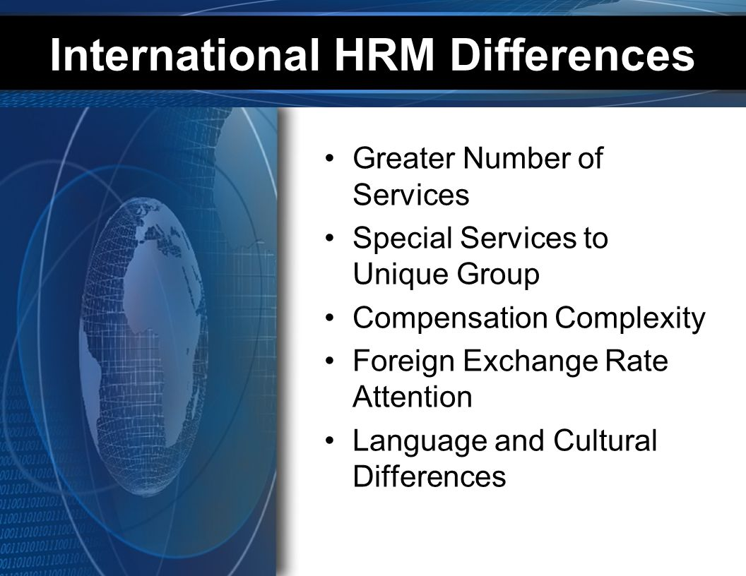 International HRM Differences