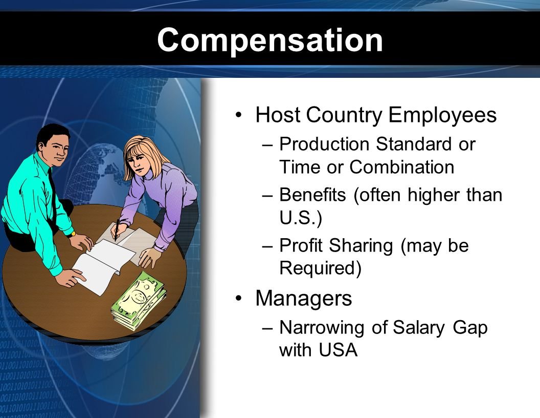 Compensation Host Country Employees Managers
