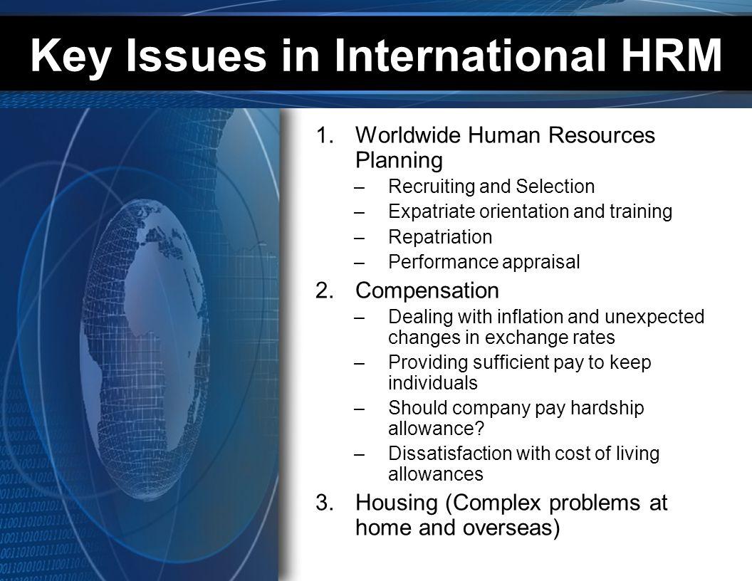 Key Issues in International HRM