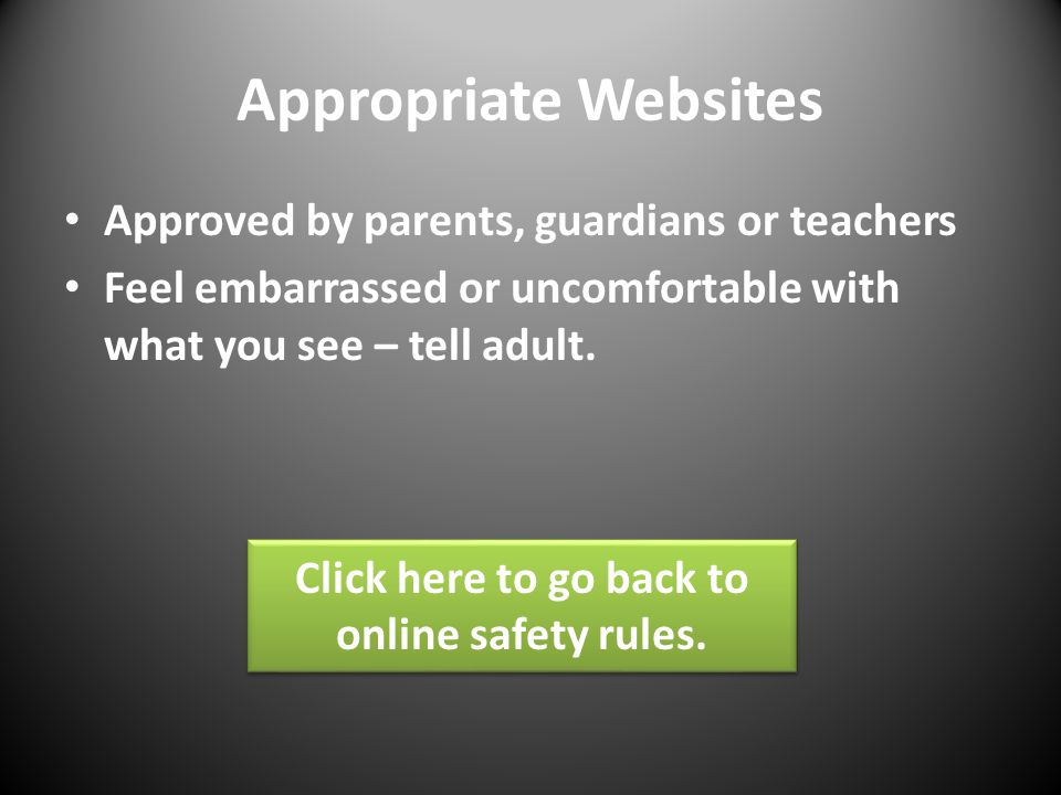 Click here to go back to online safety rules.